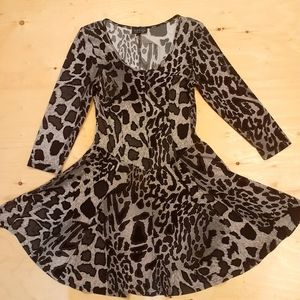 2 for $25- Topshop Big Cat Print Dress, Size 6